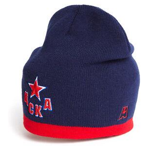 Russian hockey HC CSKA Moscow KHL Hat Cap w Patch dark blue
