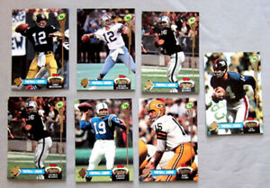 1992-Topps-Stadium-Club-034-Football-Legends-034-Full-6-6-Football-Cards-Set