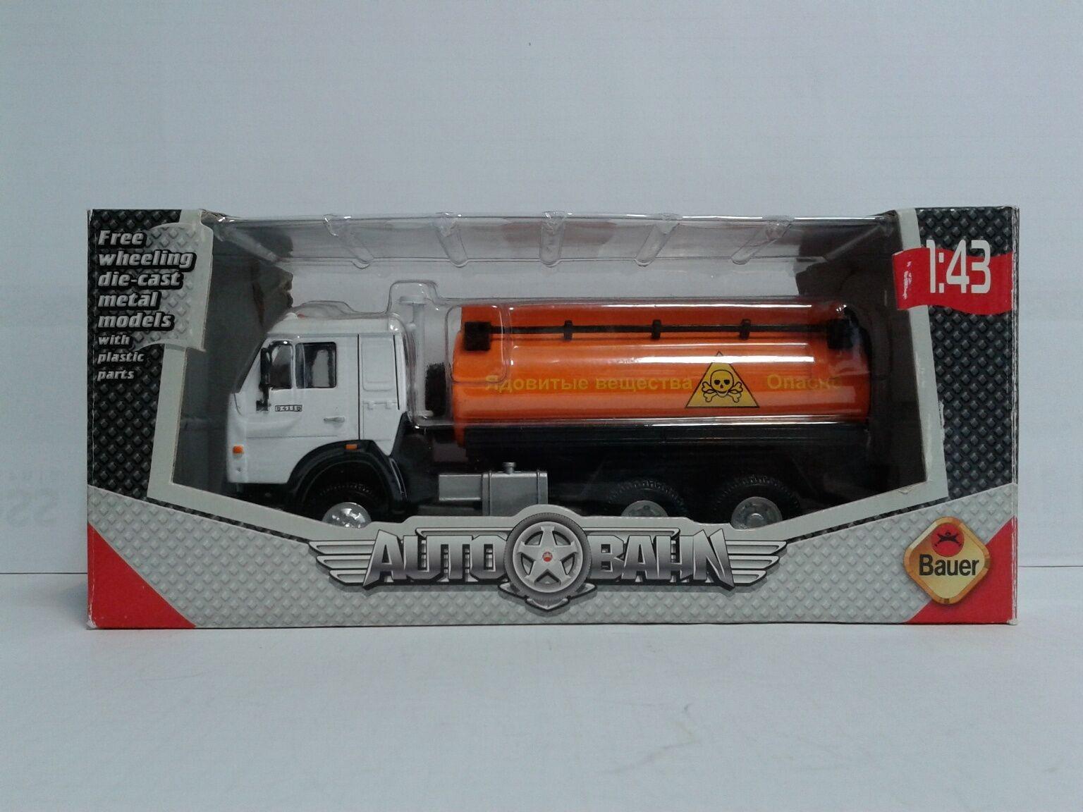 USSR Russia Kamaz 54115 Oil Tanker BR58042 1 43 Bauer Autobahn MIB OVP