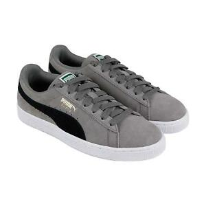 newest 73ff7 3526c Image is loading PUMA-SUEDE-CLASSIC-CHARCOAL-GRAY-PUMA-BLACK-365347-