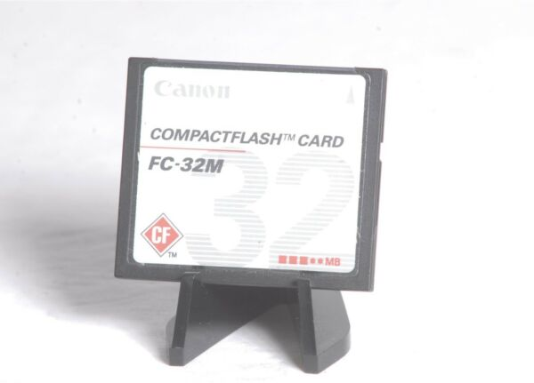 Canon 32 Mo Genuine Fc-32m Cf Compact Flash Caméra Carte Mémoire Confortable Et Facile à Porter