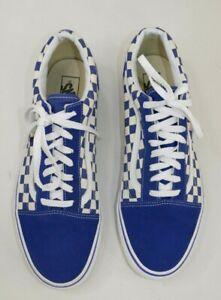 Vans-Old-Skool-Skateboard-Shoes-Blue-White-Checker-Board-Sneakers-Mens-13-EU-47