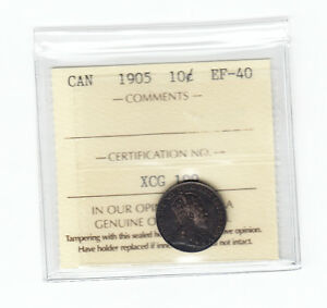 1905-Canada-10-Cents-ICCS-Graded-EF-40