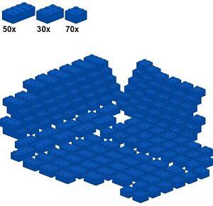 Lego-Bricks-Blue-A22-Basicsteine-blau-breit-70Stk-2x2-30Stk-2x3-5