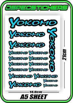 YOKOMO RC STICKER SHEET A5 R//C BD7 BD8 VOLKER DRIFT YZ-4 YD-2 BD9 BLUE F BLACK