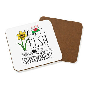 I-039-m-Welsh-What-039-s-Your-Superpower-Coaster-Drinks-Mat-Wales-Superhero-Rugby