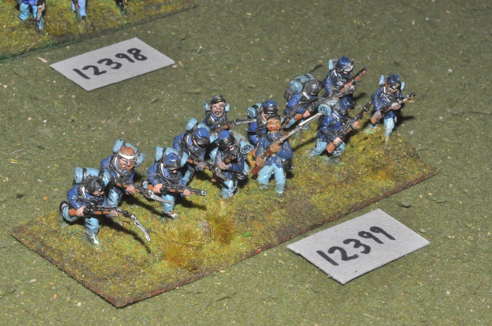 25mm ACW   union - american civil war infantry 12 figures - inf (12399)