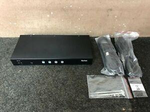 Raritan 4-Port 1-User Secure Desktop KVM Switch Dual Link DVI USB Smart Card