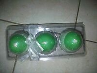 Easter Egg Candles Green Set Of 3
