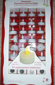 NEW-24-LED-Tea-Light-CANDLES-Flameless-wedding-REPLACEMENT-Batteries-included