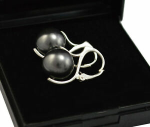 PEARL-Beautiful-Silver-Earrings-made-with-Swarovski-Crystals-12mm-UK