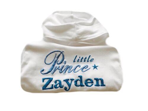 Personalizzato ricamato BABY Felpa con cappuccio nome Princess Prince Vestito REGALO KID Maglione