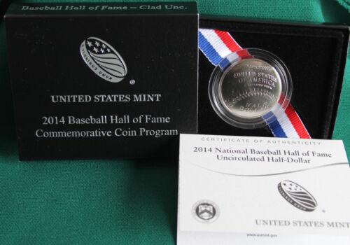 2014 National Baseball Hall of Fame BU HALF DOLLAR US Mint Clad UNC Coin Box COA