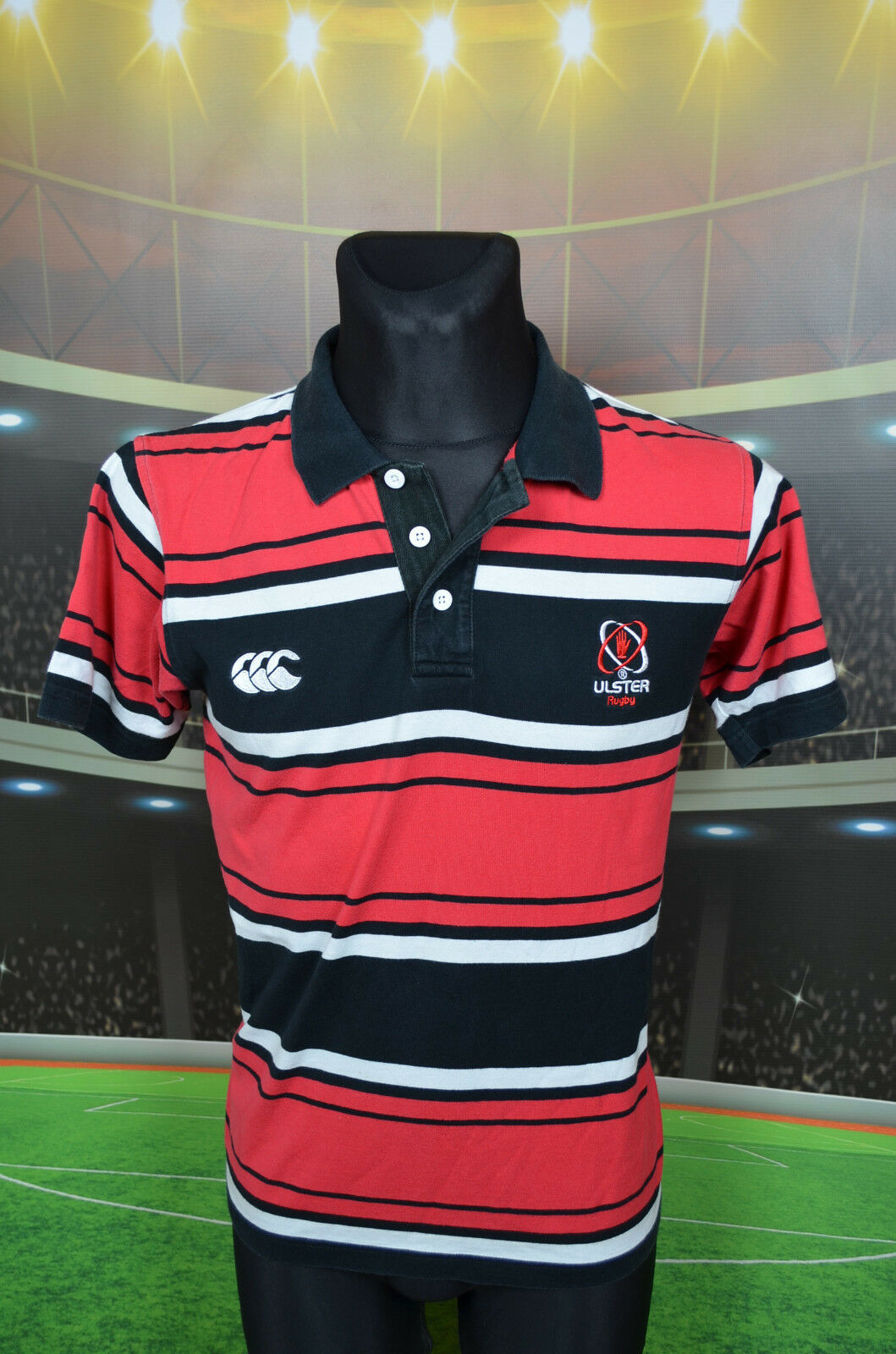 ULSTER CANTERBURY RUGBY UNION SHIRT (M) JERSEY TOP TRIKOT MAGLIA RETRO VTG POLO