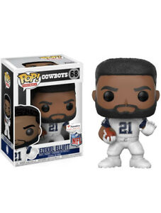 pretty nice 43b22 d19e5 Details about Funko POP! NFL Cowboys Ezekiel Elliott #68 Fanatics Exclusive  Color Rush Jersey
