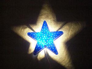 Details zu Wandlampe Stern blau - Kinderzimmer Sternen Wand Lampe -  Nachttisch Nachtlicht