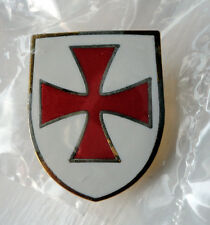Knights Templar Shield Crusader St George Crusade Cross Pin Badge used