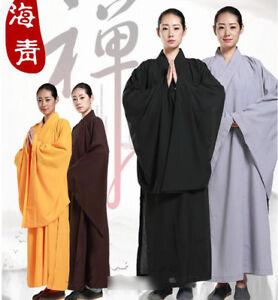 fc1d50a2e 6918 Buddhist Monk Shaolin Kung Fu Suit Meditation Haiqing Robe Long ...