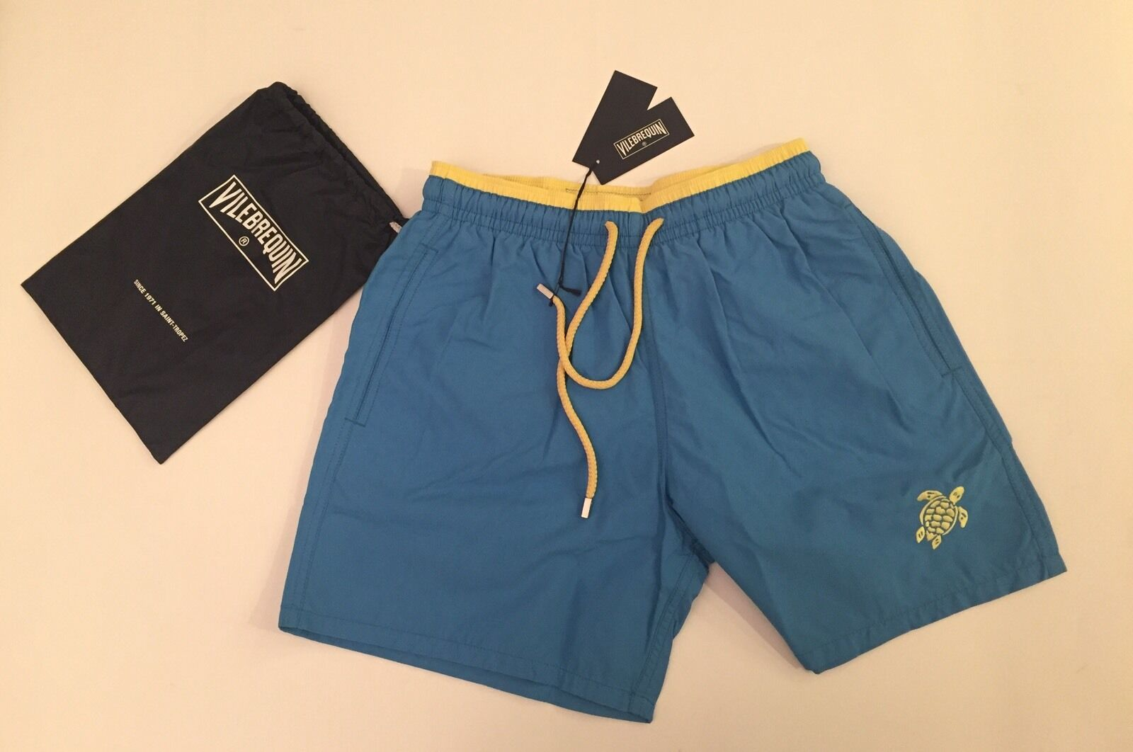 New w Tags & Bag Authentic Vilebrequin Moka Swim Trunks in bluee Men Size 3XL