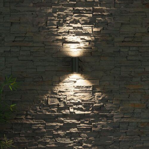 LED Außenwandleuchte Wandleuchte innen aussen Schwarz Edelstahl-Optik GU10-230V