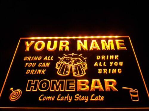 Nom Personnalisé custom Family Home Brew Mug Cheers Bar Bière enseigne au néon Hang