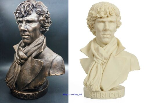 "New Detective Shylock Sherlock Holmes Model Figure Resin Bust Statue 12.5/""H"