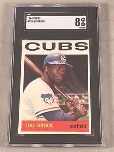 1964-TOPPS-29-LOU-BROCK-SGC-NM-MT-8-HOF