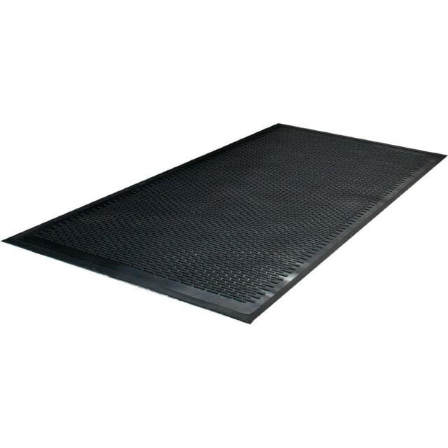 36 x 60 Polypropylene Black EA Guardian FlexStep Rubber Antifatigue Mat