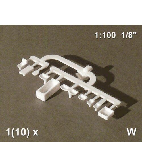 Bad Set 10-teilig 1:100 weiß 0,75€//Stück Schulcz 54.70101.2