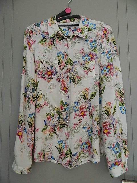 Forever New Floral Shirt Size 12
