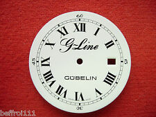 Cadran pendulette Zifferblatt Gubelin montre dial vintage 33 mm Clock quartz