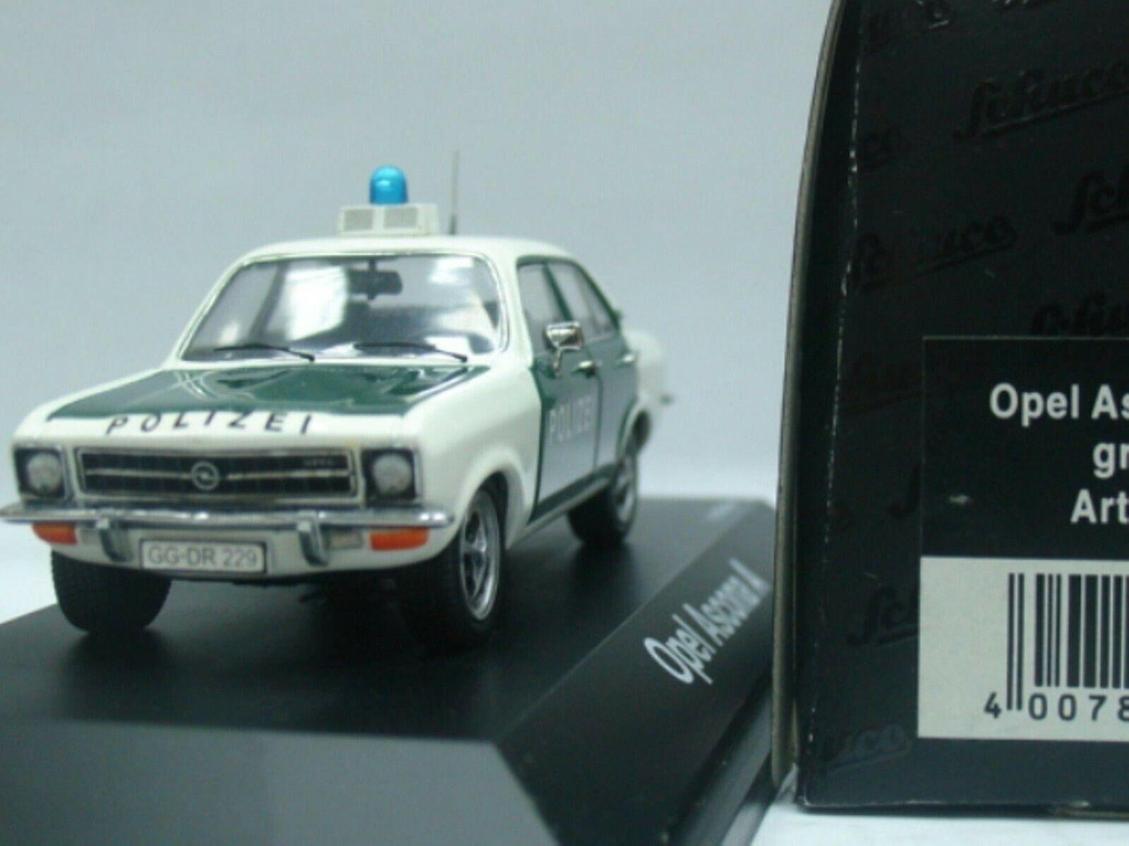 Wow extrêmement rare OPEL ASCONA A 1.6SR 1974 GG Polizei 1 43 Schuco-MINICHAMPS