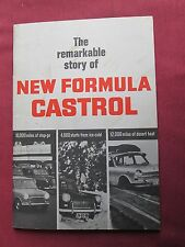 The remarkable story of New Formula CASTROL 1960's booklet