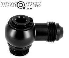 AN-8 (8AN AN8) Banjo Adapter To M22x1.5 SETRAB Oil Cooler Metric Adapter BLACK