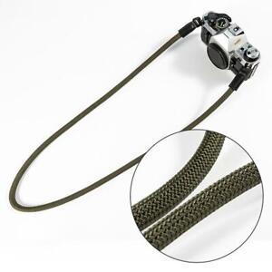 Corda-di-Nylon-MacChina-Fotografica-Spalla-Tracolla-Cinghia-per-fotocamera-DSLR-Verde-militare