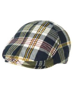 GYMBOREE EGG HUNT NAVY SEERSUCKER DRIVING CAP HAT 6 12 24 2 3 4T 5T NWT