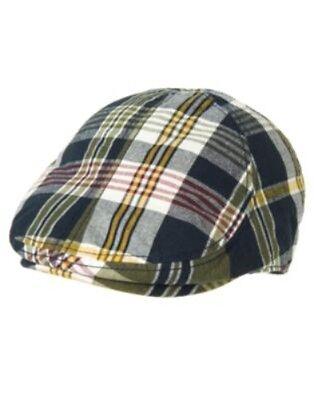 GYMBOREE RESCUE TEAM MULTI COLOR PLAID DRIVING CAP HAT 3 4 5 7 8 9 10 NWT