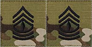 Eeuu-Ejercito-Multicam-Ocp-5-1cm-x-Hook-Backed-Primera-Sargento-Rango-Tab-Patch
