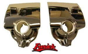 1955-1956 Buick Roadmaster Super Cadillac Chrome Wiper Escutcheon Set 55 56