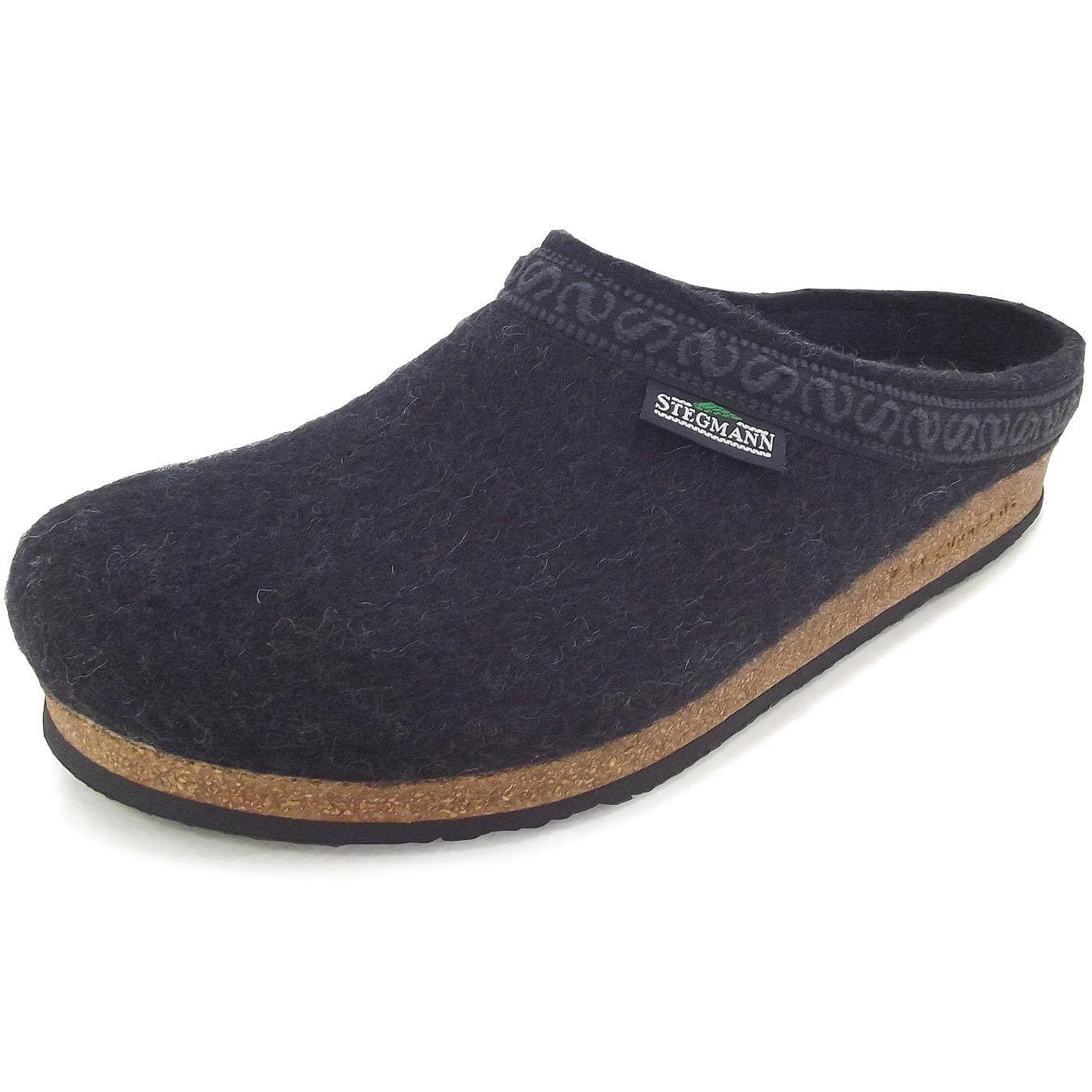 Billig gute Qualität Stegmann 108 Unisex Wollfilz-Pantoffeln graphit