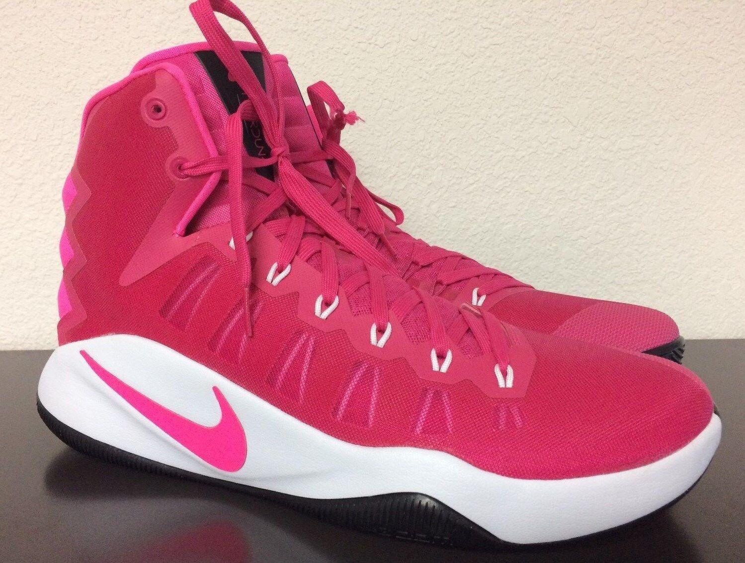 Nike Uomo hyperdunk 2016 vivida rosa basket scarpa, il cancro al seno consapevolezza 13