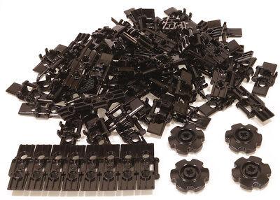 3873 NEUWARE Kettenglieder 100 x Kettenglied breit schwarz LEGO Technik