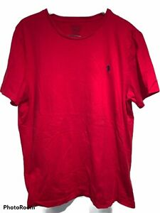 Polo-Ralph-Lauren-T-Shirt-Mens-Custom-Fit-Size-L-Red-Short-Sleeve-C32