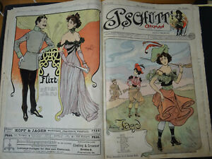Jugendstil k.u.k. Monarchie Wien karikatur cartoon Art Nouveau joking Witze Mode