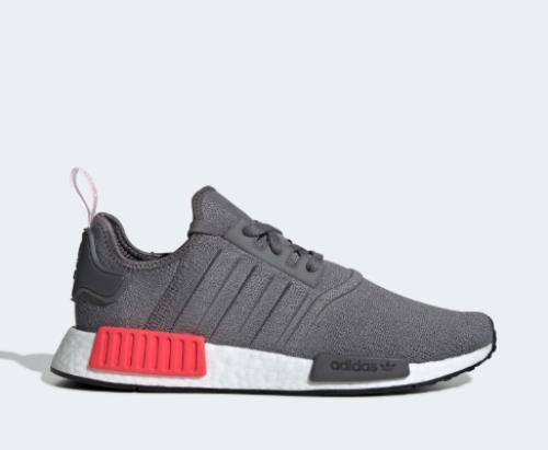 ff3c505b6996f New Adidas Men's Originals NMD R1 Boost Shoes (BD7730) Grey/Grey-Shock Red