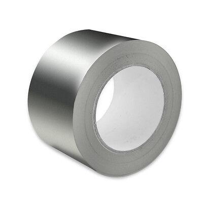 Silver Foil Aluminium Heat Reflecting Insulation DIY Duct Tape 30 Mu 75mm x 50m