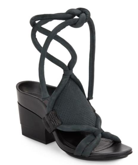 3.1 Phillip Lim Marquise Nubuck Leather ankle tie  Sandals SZ 38.5 NWB