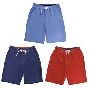 e6dda75ddb037 Boys Kids Tom Franks Plain Blue Navy Red Swimming Trunks Shorts ...