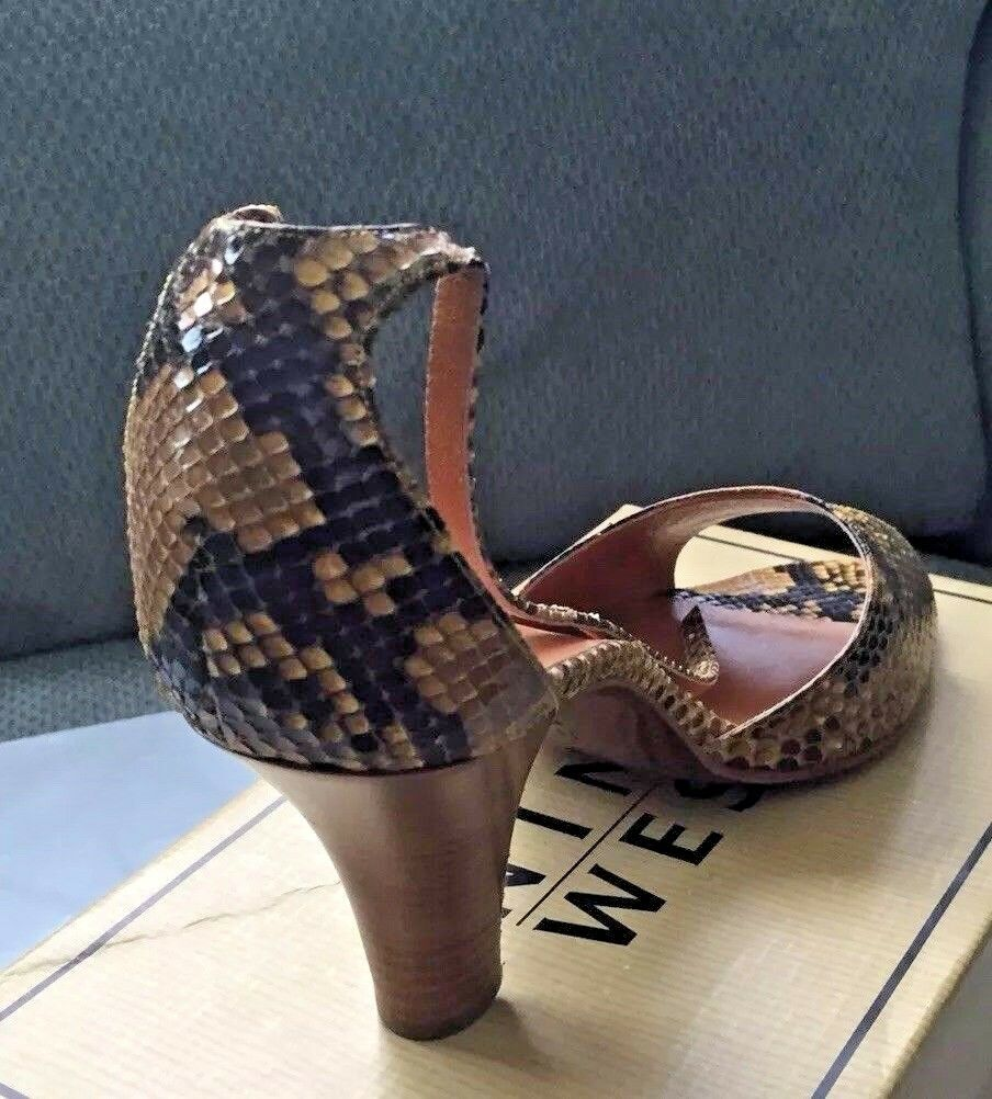 New Walter Walter Walter Steiger Snakeskin Open Toe High Heel shoes.  size 11B 4b5059