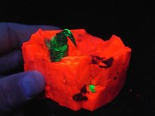 .75 INCH BIG! WILLEMITE CRYSTAL IN CALCITE STERLING HILL MINE  NEW JERSEY